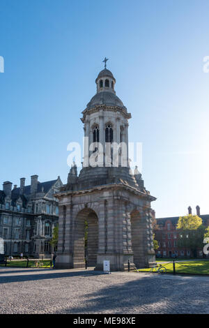 The Campanile - Trinity College in Dublin - Ireland - Stock Photo