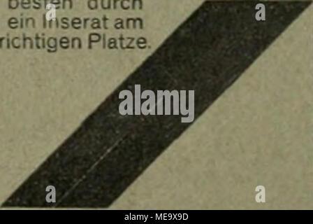 """. Die Gartenkunst . Kostenlose Beratung durch Haasenstein & Vogler A. C, Aelteste Annoncen-Exped., Frai;lifurt a. I ., Schillerpl. 2. ??????????????????????????? Wirklich erstklassige Park- und Alleebäume von 10—30 cm Stamm- umfang, Ziergehölze und Hecken- sträueher, starke Coniferen mit Lehmballen, Rosenhoehstämmeund niedrig veredelte. — Obstbäume und Sträueher in allen Formen. — Preisverzeichnis frei. Bei grösserem Bedarf Vorzugspreise. mm BaumschülB I-Tsf""""-' BrUbl, Bezirk Coln. - Stock Photo"""