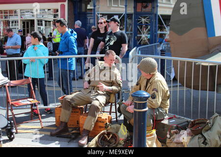 Forties military festival in Colwyn Bay,Wales - Stock Photo