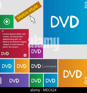 dvd icon sign. buttons. Modern interface website buttons with cursor pointer. Vector illustration - Stock Photo