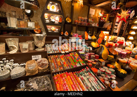 Traditional Christmas Market or Weihnachtsmarkt at Bonn, North Rhine Westphalia, Germany. - Stock Photo
