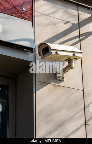 CCTV Cameras on the wall mounted - Stock Photo