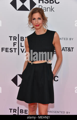 New York, USA, 22 April 2018. Alysia Reiner attends the 'Egg' screening during 2018 Tribeca Film Festival at SVA Theatre on April 21, 2018 in New York City. Credit: Erik Pendzich/Alamy Live News - Stock Photo