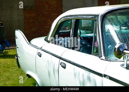 Bicester, Oxfordshire, UK.  22.04.2018.  Sunday Scramble 'Drive It Day' at Bicester Heritage which is a historical ex RAF base displaying classic vehicles which included cars, trucks, motorbikes, bikes, aeroplanes and fire engines.  Credit:  Michelle Bridges/Alamy Live News. - Stock Photo