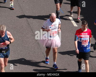 London, UK, 22 April 2018. Thousands take place at London Marathon 2018 Credit: Nastia M/Alamy Live News - Stock Photo