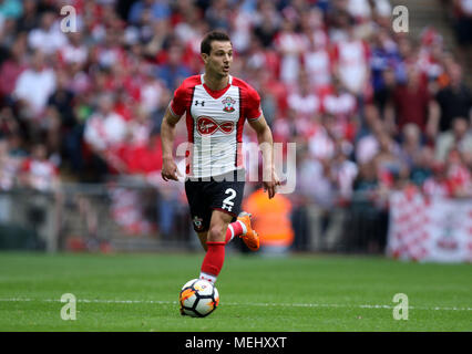 London, UK, 22 April 2018. Cedric (S) at the Emirates FA Cup Semi-Final between Chelsea and Southampton, at Wembley Stadium, London, on April 22, 2018. **THIS PICTURE IS FOR EDITORIAL USE ONLY** Credit: Paul Marriott/Alamy Live News - Stock Photo