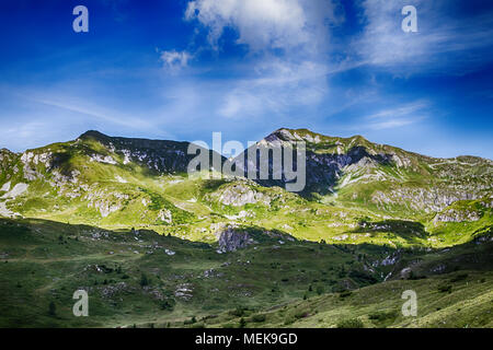 Beautyfull mountain landscape. Alps montains in Bagolino, province of Brescia, Italy. - Stock Photo