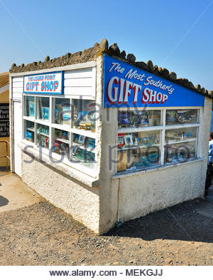 The most southerly gift shop on mainland Britain at Lizard Point, Cornwall, England, UK - Stock Photo