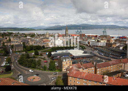 View over Port Glasgow - Stock Photo