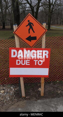 Various road signs, signage, etc. Indicates things you can and cannot do - Stock Photo