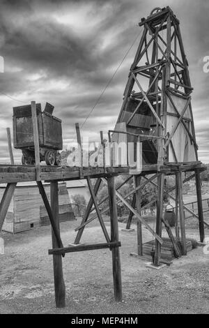 KALGOORLIE, AUSTRALIA   JANUARY 28, 2018: Pit Frame And Plant Of An Old