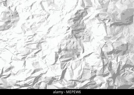 Dot and grain crumpled paper texture background  Black and