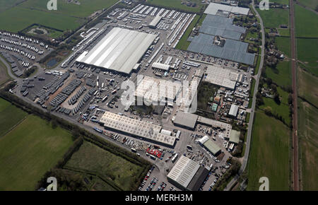 aerial view of Swift Caravans, A1079, Hull - Stock Photo