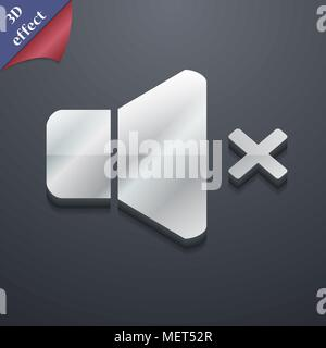 No Volume icon symbol. 3D style. Trendy, modern design with space for your text Vector illustration - Stock Photo