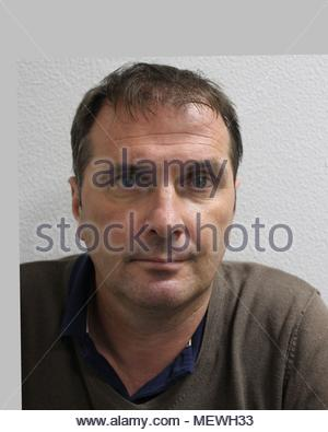 Undated handout photo issued by the Metropolitan Police of Belgian national Federic Fagnoul, 50, who has been sentenced to 17 years and six months at Southwark Crown Court for his part in a drug-dealing gang that used a helicopter to transport £7 million worth of cocaine from Europe to the UK. - Stock Photo