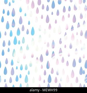 Abstract iridescent holographic unicorn tear drops background. Vector illustration. - Stock Photo