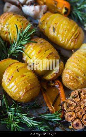 Potato Roast Closeup - Stock Photo