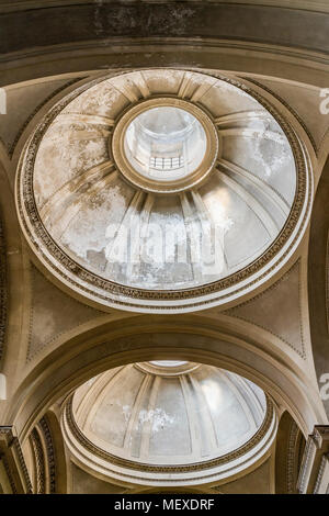 The domes within the ceiling of Palermo Cathedral, Sicily, Italy, built to allow natural light in. - Stock Photo