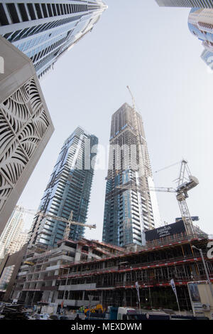 Building works are everywhere in Dubai as the Expo 2020 approaches - Stock Photo