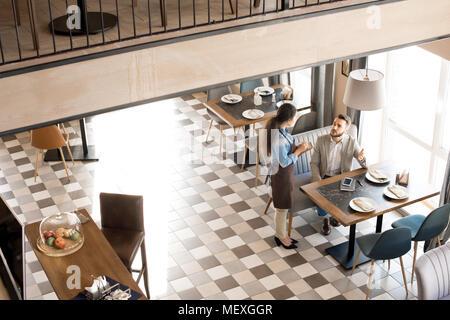 Modern cozy business cafe - Stock Photo
