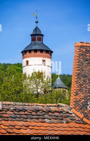 bergfried of Büdingen Castle, Büdingen, Hesse, Germany, Europe - Stock Photo