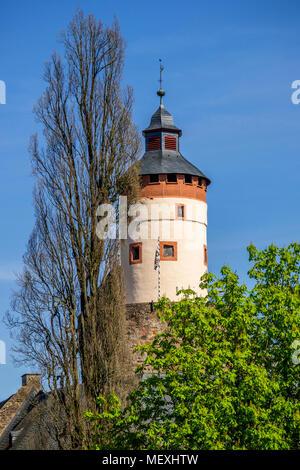 bergfried of Büdingen Castle in Büdingen, Hesse, Germany, Europe - Stock Photo