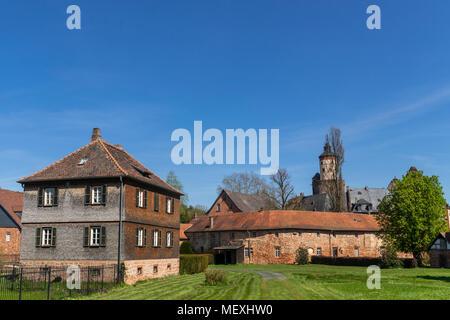 Büdingen Castle and castle park in Büdingen, Hesse, Germany, Europe - Stock Photo