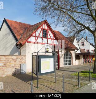Church square in Weisenheim am Berg, Rheinland-Pfalz, Germany, Europe - Stock Photo