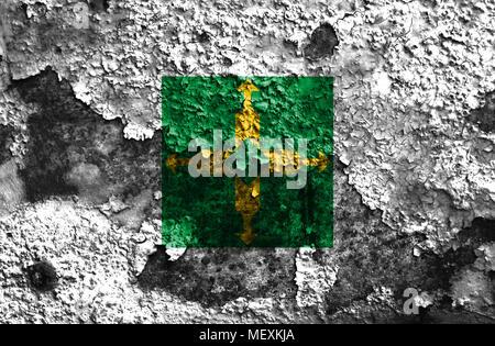 Distrito Federal grunge flag, Ciudad de Mexico - Stock Photo