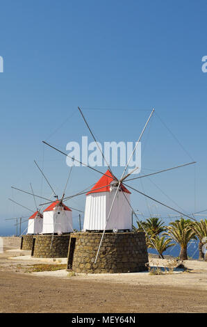 Windmills from Porto Santo Island, Madeira - Stock Photo