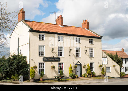 The Dawnay Arms and 18th century building, now a pub and restaurant, Newton-on-Ouse, North Yorkshire, England, UK - Stock Photo
