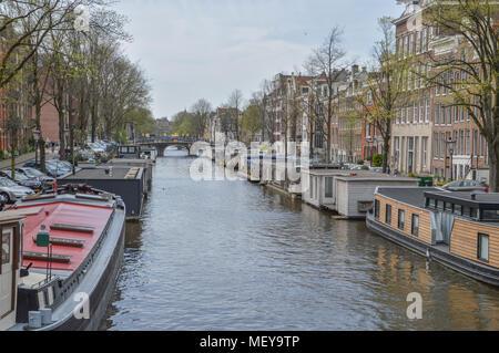 Nieuwe Prinsengracht At Amsterdam The Netherlands - Stock Photo