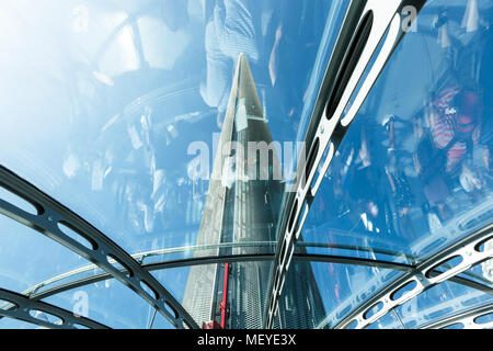 Spire of British Airways i360 observation tower in Brighton, reflections - Stock Photo