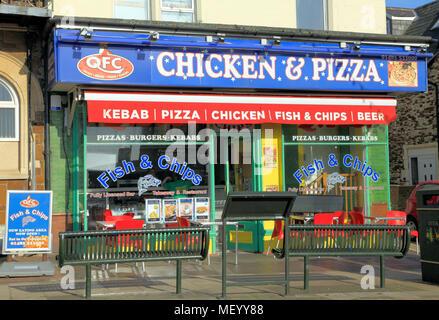 Qfc Chicken Pizza Fast Food Outlet Shop Hunstanton Norfolk
