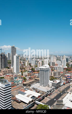 Panama City, Panama - march 2018: Aerial city Skyline  of  Panama City. - Stock Photo