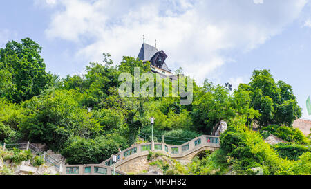 Schlossberg (Castle Hill), mountain in Graz. Part of the UNESCO World heritage in Graz, Austria - Stock Photo