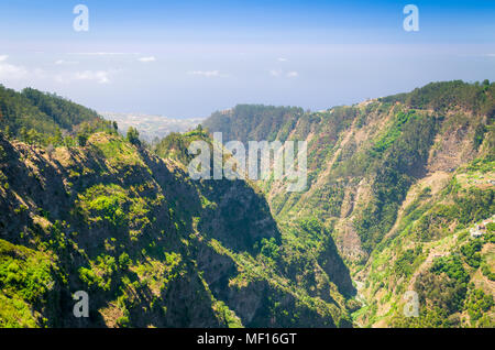 Curral das Freiras on Madeira Island, Portugal - Stock Photo