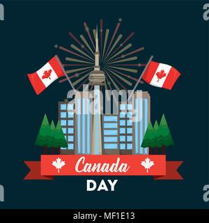 happy canada day - Stock Photo