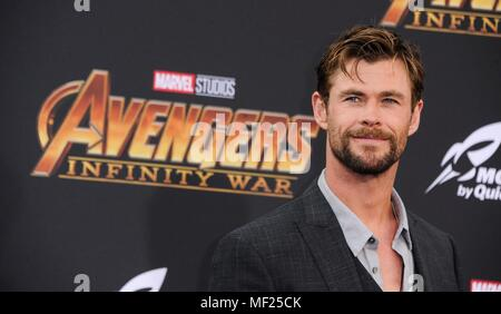 Chris Hemsworth at arrivals for AVENGERS: INFINITY WAR Premiere - Part 2, Hollywood, Los Angeles, CA April 23, 2018. Photo By: Elizabeth Goodenough/Everett Collection - Stock Photo