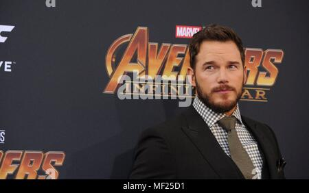 Chris Pratt at arrivals for AVENGERS: INFINITY WAR Premiere - Part 2, Hollywood, Los Angeles, CA April 23, 2018. Photo By: Elizabeth Goodenough/Everett Collection - Stock Photo