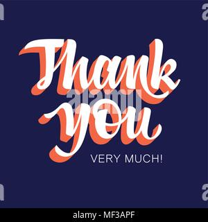 Thank You handwritten inscription. Hand drawn lettering. Thank You card with abstract geometric background. Vectors - Stock Photo