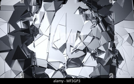 3D Rendering Of Abstract Cracked Surface Background