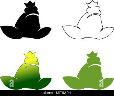Set of frog logotypes vector illustration gradient - Stock Photo
