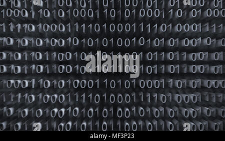 3d Rendering Of Binary Computer Code With Soft Focus Background