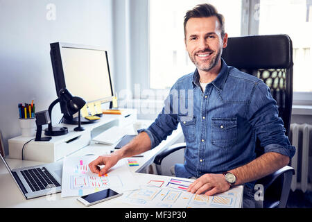 Creative Home Office Space With Graphic Designers Desk With Laptop Stock Photo 85471910 Alamy