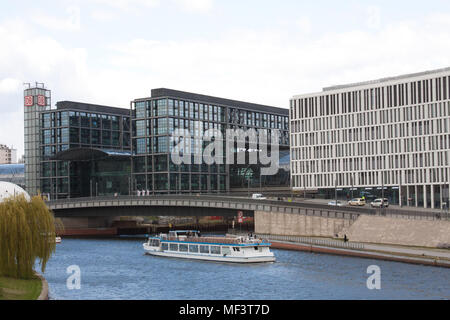 All images                        Hauptbahnhof (central station), River Spree, Berlin, Germany - Stock Photo