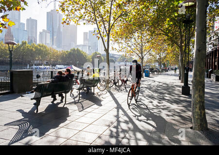 Southbank, Melbourne, Australia - Stock Photo