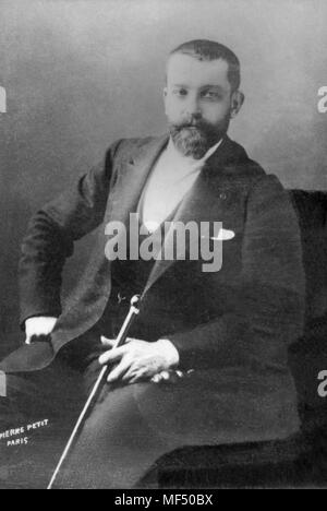 Portrait of Henri Gervex ( 1852 - 1929 ) French painter  -  photography by  Pierre Petit - Stock Photo
