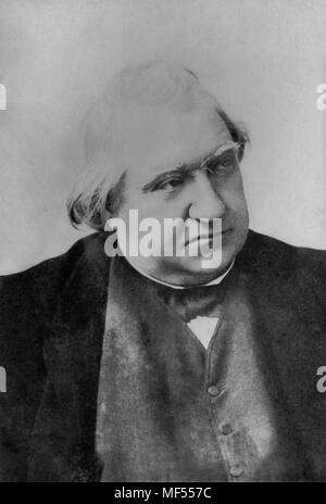 Portrait of Ernest Renan ( 1823 - 1892 ) French writer  -  anonymous photography - Stock Photo