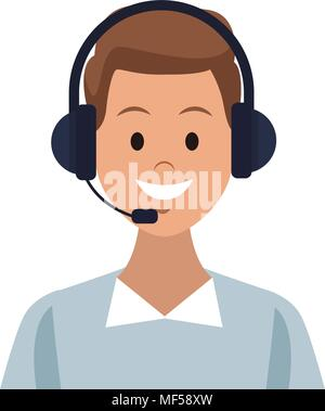 Male call center agent - Stock Photo